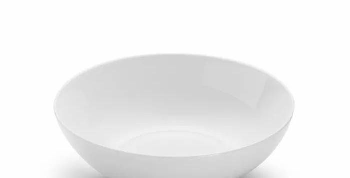 Porzellan/Keramik Hundenapf, reinweiß