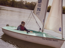 One of our younger volunteers enjoying being back out on the water