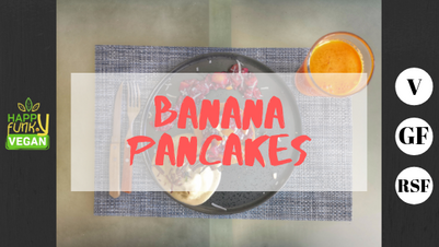 Fluffy banana pancakes - V - GF - RSF - No oil