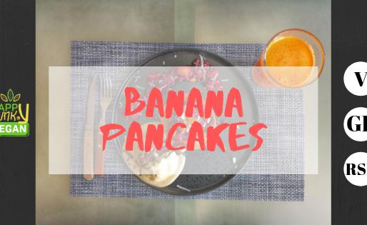 Fluffy banana pancakes - V - GF - RSF - No oil