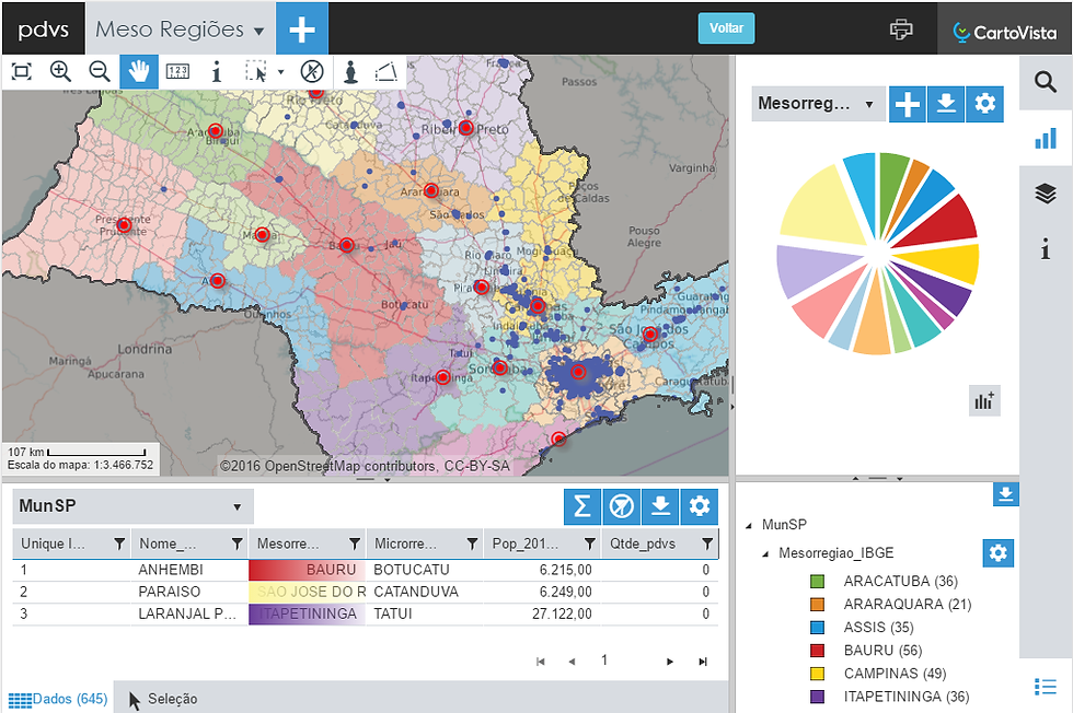 Análise Geográfica na web