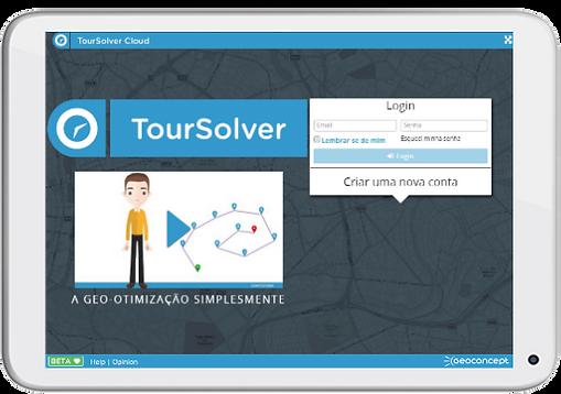 Login TourSolver Cloud