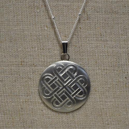 Celtic Heart Knot Pewter Pendant