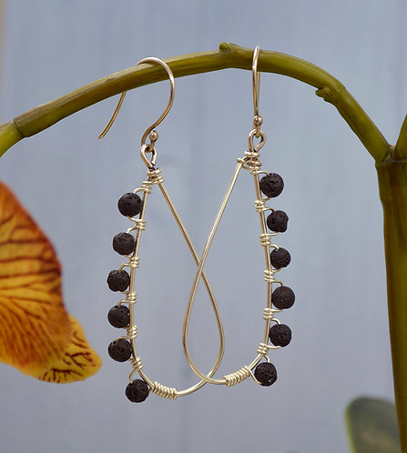 Lavastone Wire Earrings