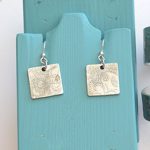 Square Paisley Earrings