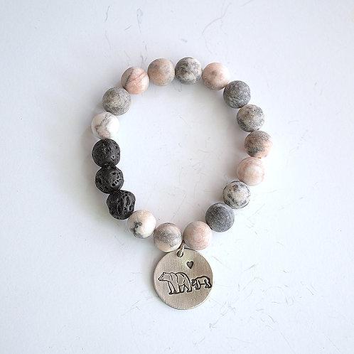 Mama Bear Gemstone Bracelet