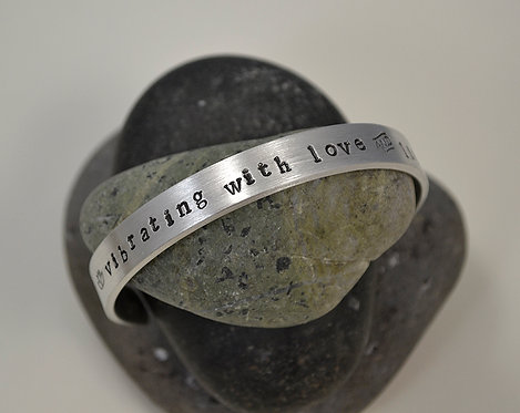 Vibrating with Love and Light Pewter Bracelet