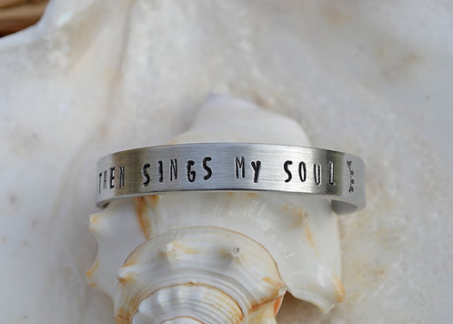 Then Sings My Soul Childs Pewter Bracelet