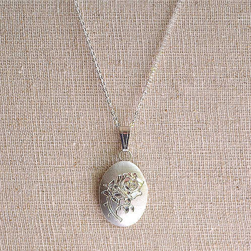 Flower of the Month Pewter Pendant - June