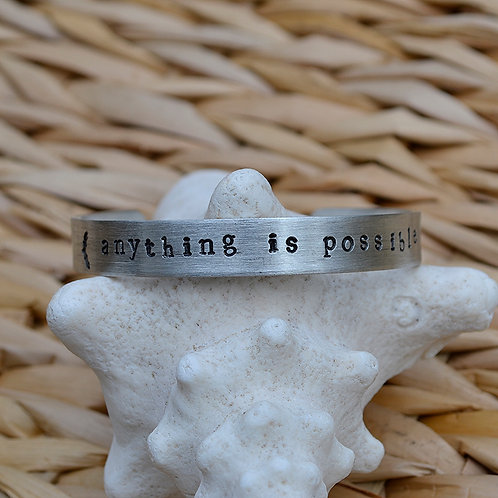 Anything is Possible Pewter Bracelet