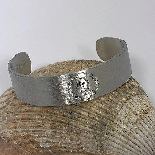 "Pewter Cuff Bracelet - ""Q"""