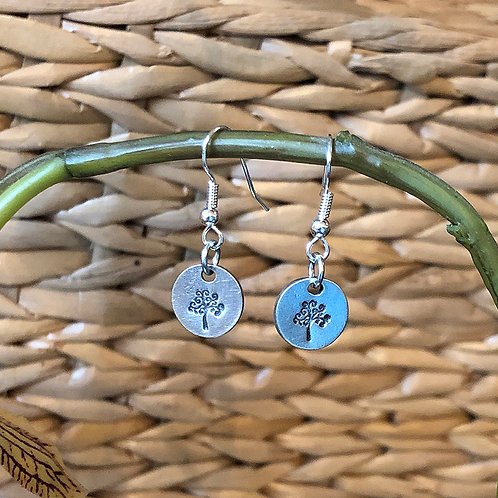 Tree Pewter Earrings