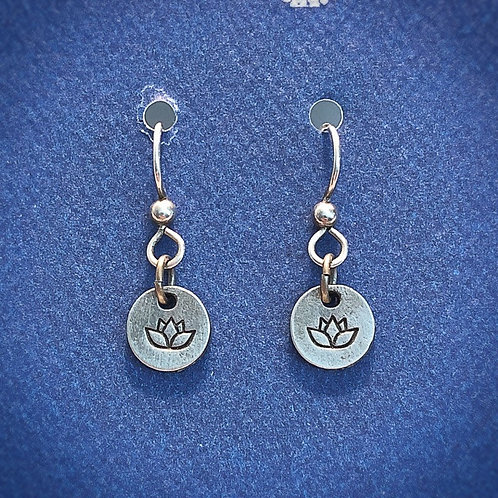 Lotus Pewter Earrings