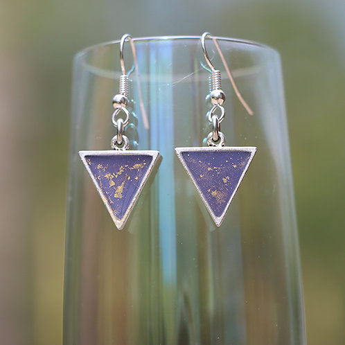 Triangle Earrings Purple