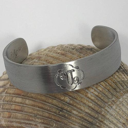 "Pewter Cuff Bracelet - ""U"""