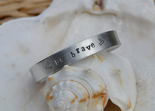 Be Brave Childs Pewter Bracelet