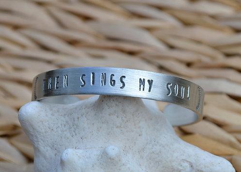 Then Sings My Soul Pewter Bracelet