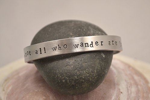 Not All Who Wander are Lost Pewter Bracelet