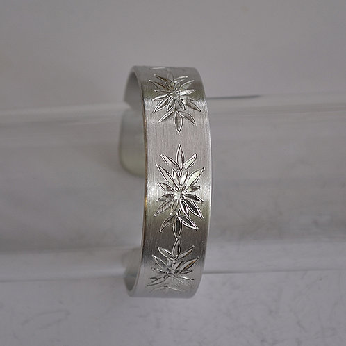 January Pewter Cuff Bracelet