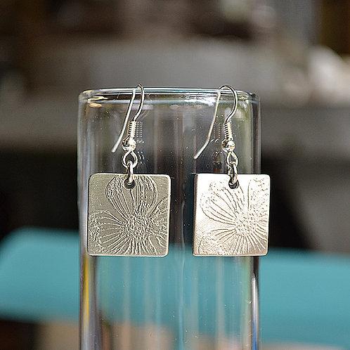 Square Dogwood Earrings