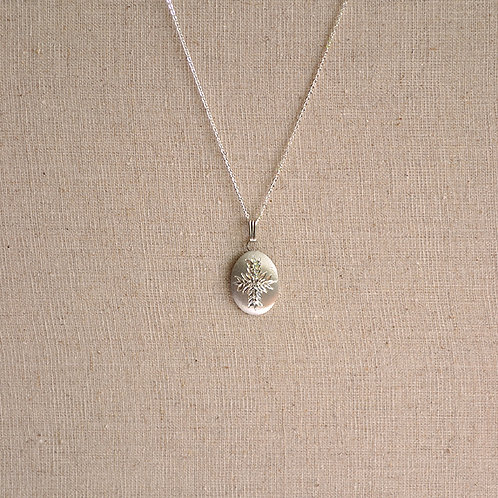 Flower of the Month Pewter Pendant - January