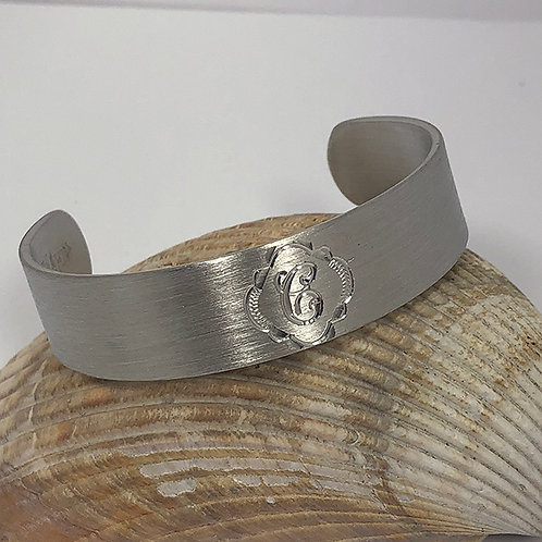 "Pewter Cuff Bracelet - ""C"""