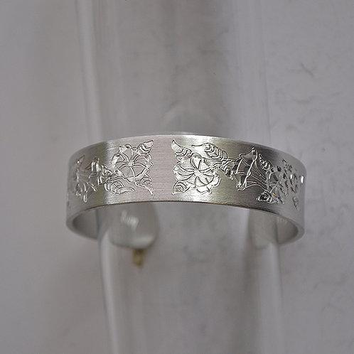 September Pewter Cuff Bracelet