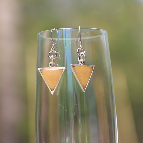 Triangle Earrings Yellow