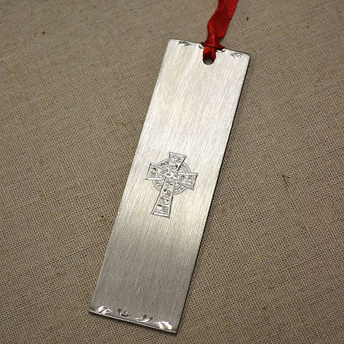 Celtic Cross Pewter Bookmark
