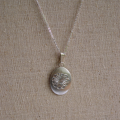 Flower of the Month Pewter Pendant - July