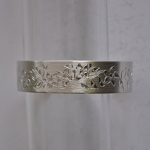 February Pewter Cuff Bracelet