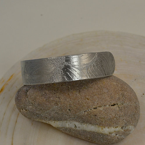 "Dogwood Cuff Bracelet with Large Dogwood Etching - 5/8"" wide"