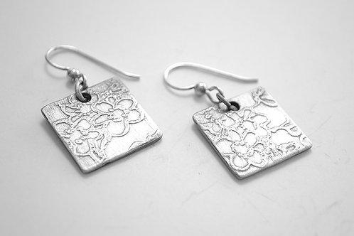 Square Cherry Blossom Earrings
