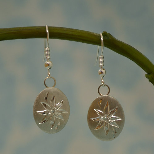 December Pewter Earrings