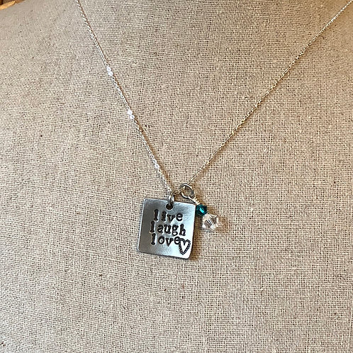 Live Laugh Love Pewter Necklace