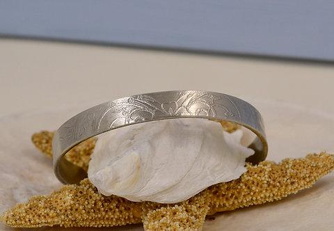 Henna Etched Pewter Bracelet