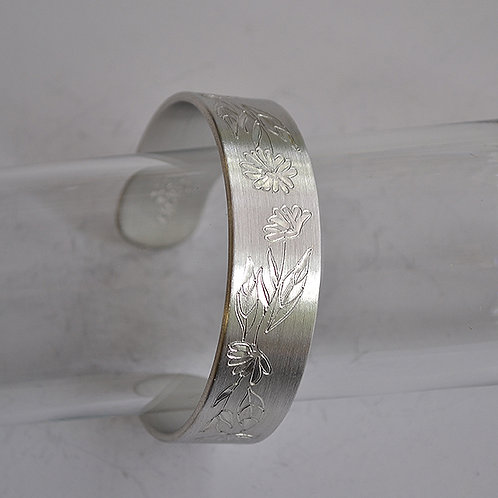 October Pewter Cuff Bracelet