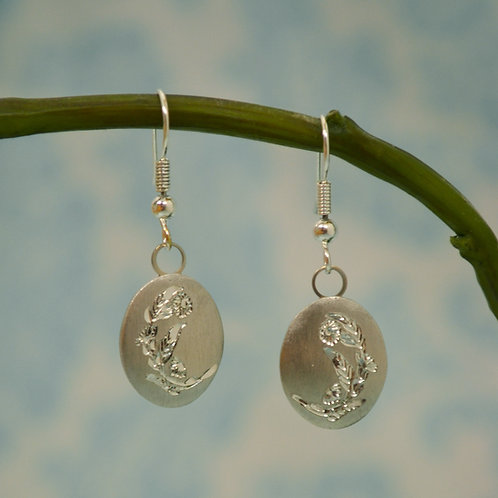 October Pewter Earrings
