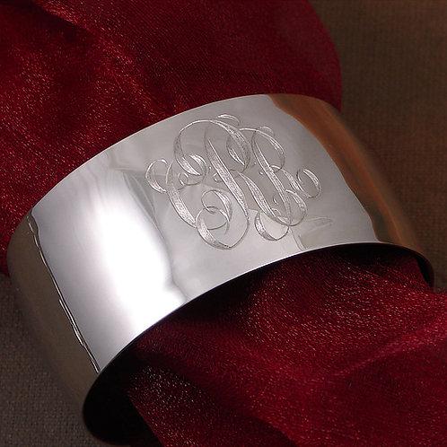 """Wide Sterling Silver Cuff Bracelet - 1 3/16"""""""