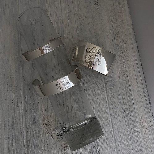"""Sterling Silver Cuff Bracelet - 3/8"""""""