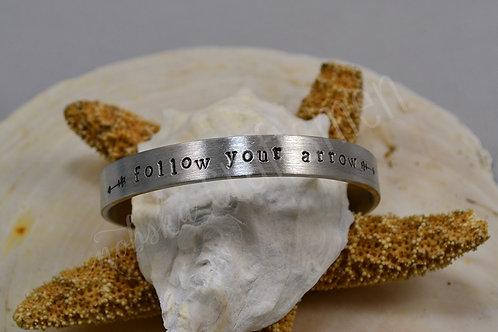 Follow Your Arrow Pewter Bracelet