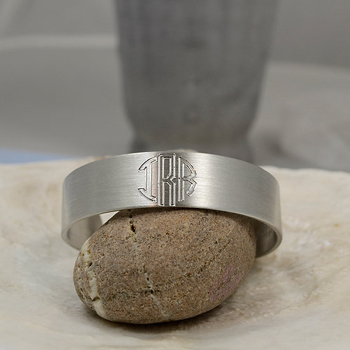 "Plain Pewter Cuff Bracelet - 5/8"""
