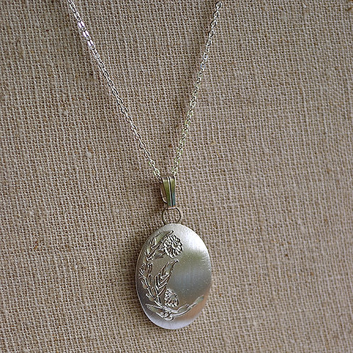 Flower of the Month Pewter Pendant - October