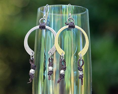Horseshoe Earrings with Leather