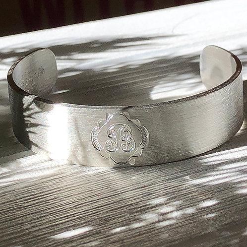 "Pewter Cuff Bracelet - ""B"""