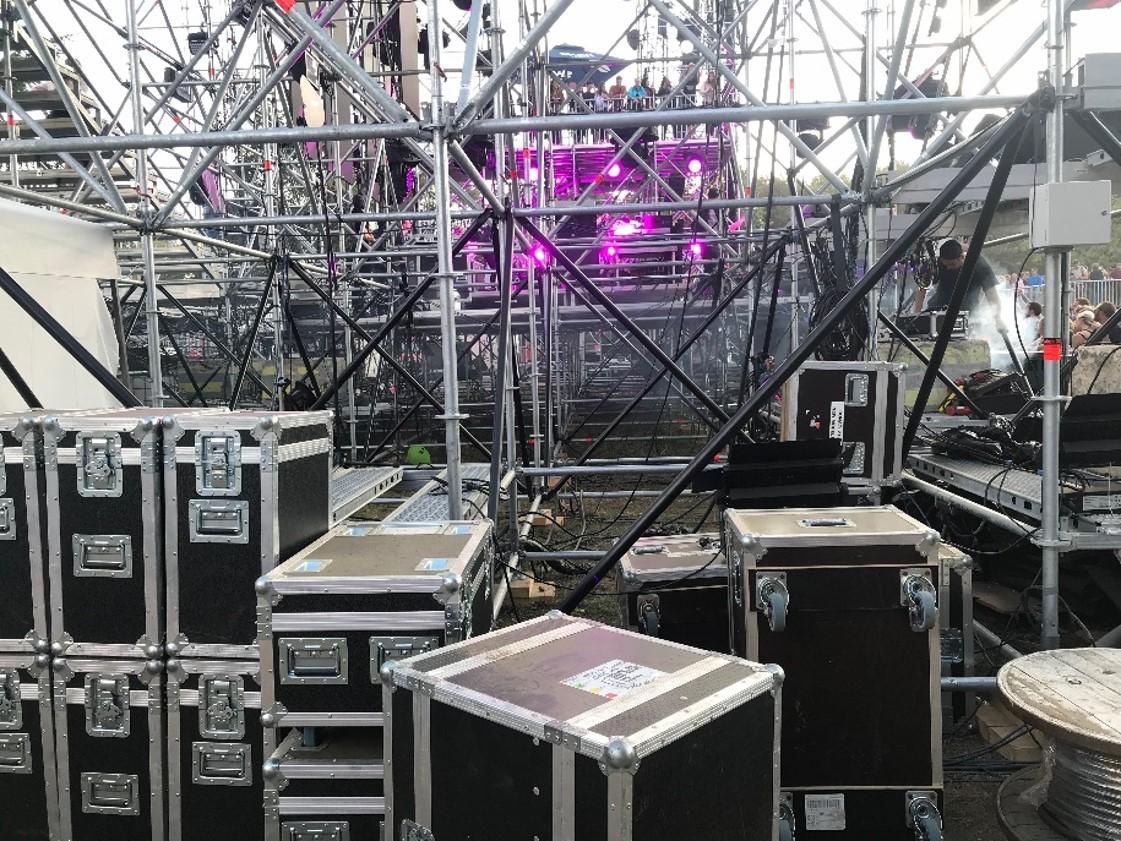 Structure, matériel sur festival