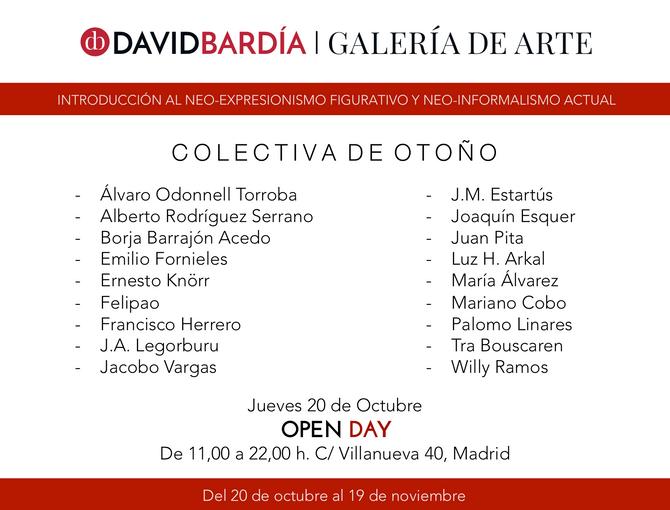 Exposición colectiva en la galería David Bardía.