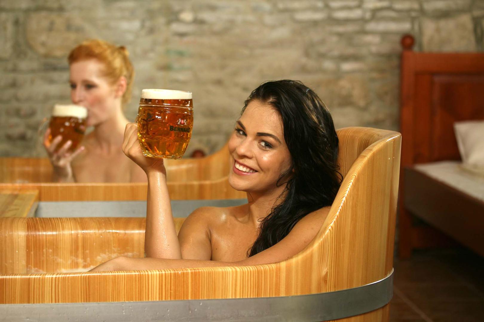 Pivné kúpele s obľúbeným pivom Bernard