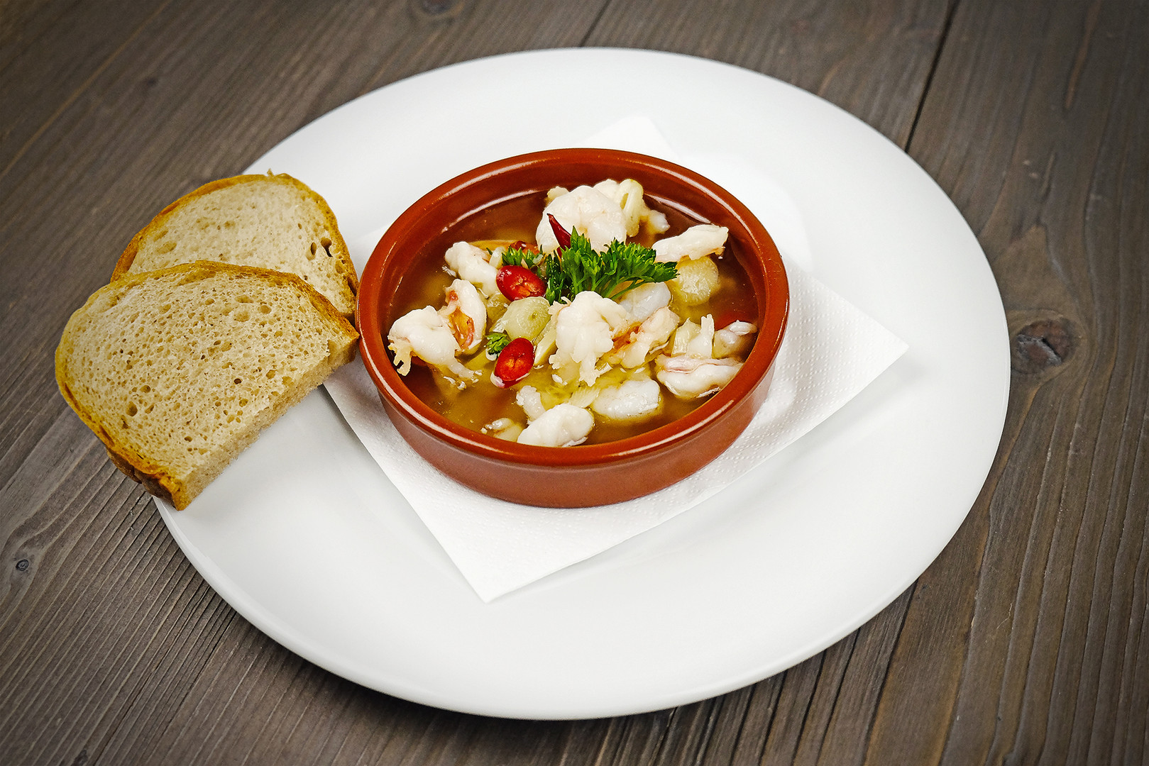 Tigrie krevety na olivovom oleji s cesnakom a chilli papričkou