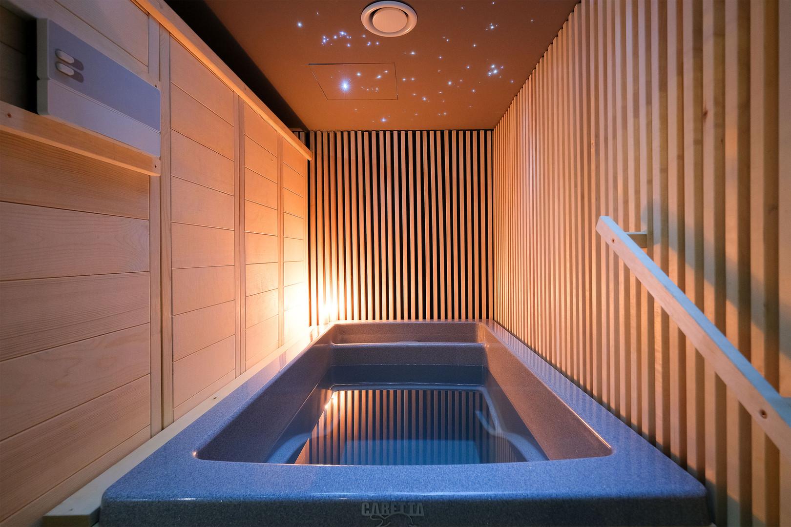 Wellness centrum - ochladzovací bazénik